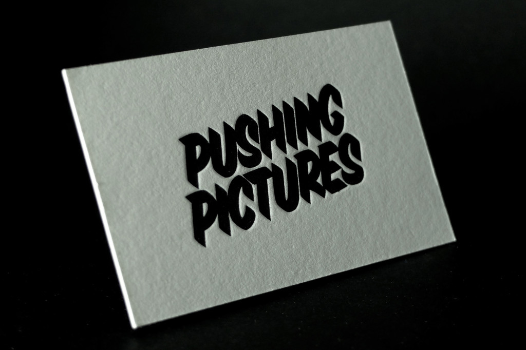 Pushing Pictures, Letterpress Business Cards, Black Jack Letterpress Business Cards, Cheap Letterpress Business Cards, Retropress