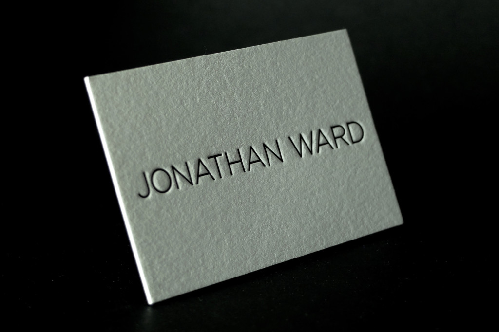 Jonathan Ward, Letterpress Business Cards, Designer Business Cards, Cheap Letterpress printing, Affordable Letterpress, Letterpress Melbourne, retropress, Andrew Basford