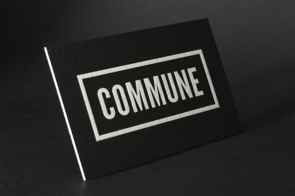 Commune, Full Solid letterpress Business Card, Letterpress Business Cards, Specialty Printing, Cheap Letterpress Australia