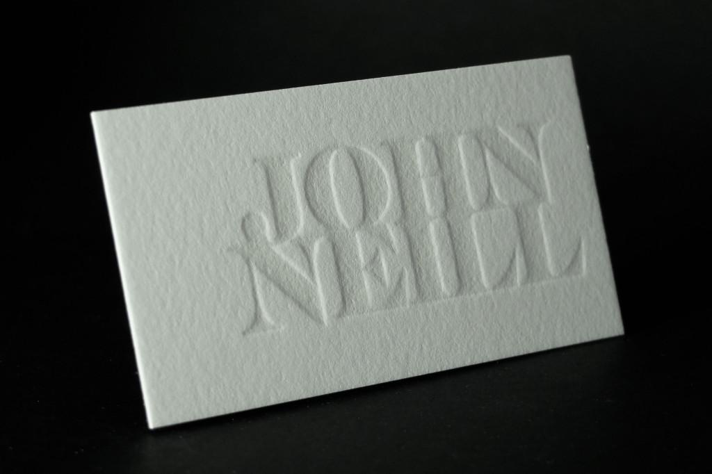 Blind Embossed Letterpress Business Cards, Business Cards, Letterpress Australia, Best Letterpress Printer Sydney, Retropress, Andrew Basford, Blind Impression