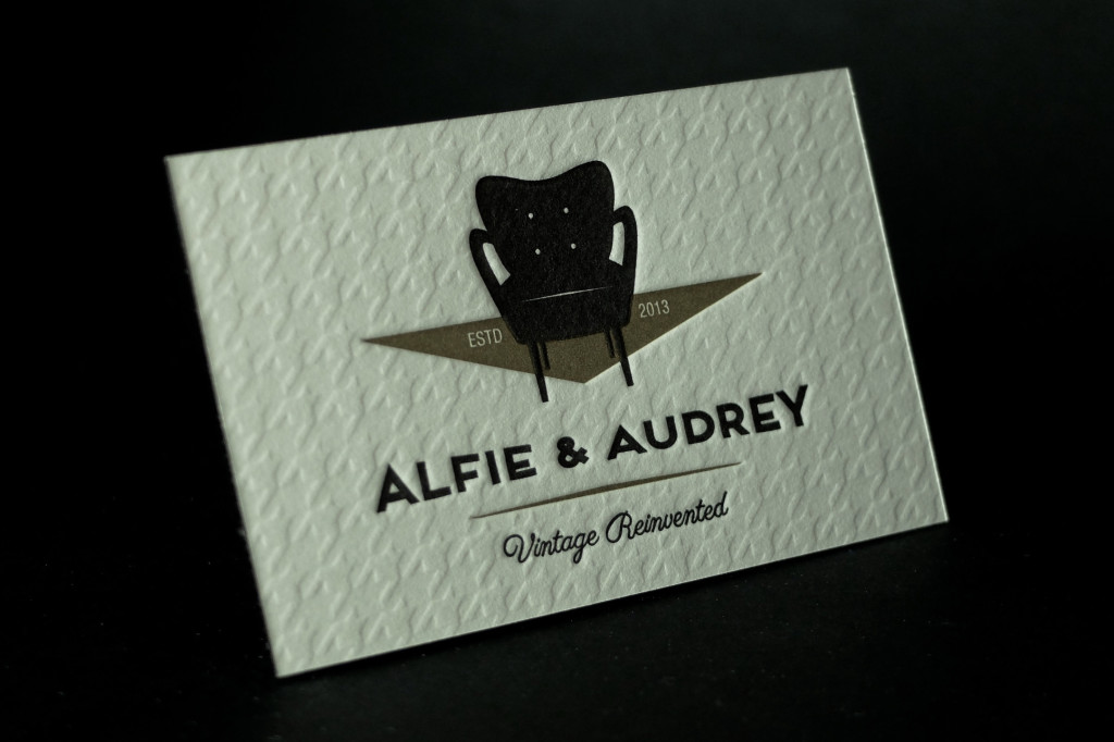 Alfie and Audrey, Beautiful Business Cards, Letterpress Business Cards, Best Letterpress Printer Australia, Retropress