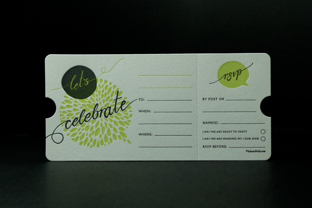 Letterpress Invitation, Ticket Invitation, Trade Letterpress Printing, Affordable Letterpress Printing Australia, Die Cut Invitation, Perforated Invitation